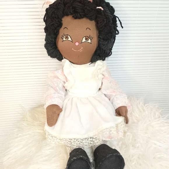 Vintage 80s Baby Doll Removable Clothing
